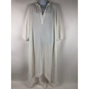 9 Seed White Tangier Caftan One Size Made in Calif